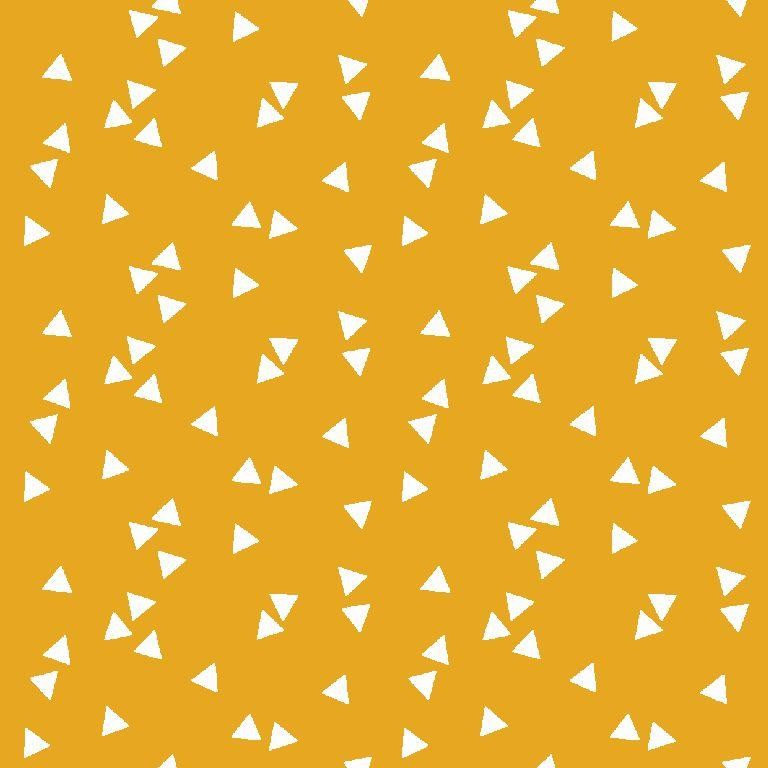 Poplin bumbac – small triangles on yellow