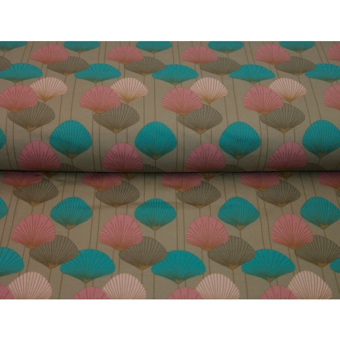 Material textil Jerse bumbac – Colored dandelions