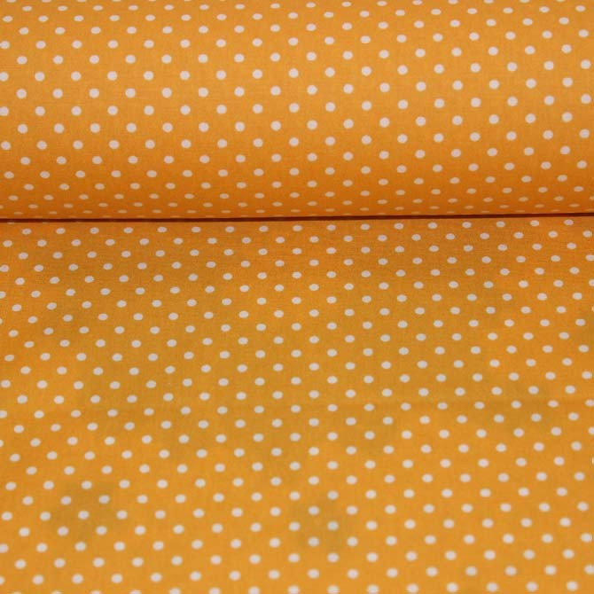 Poplin bumbac – Dots on yellow
