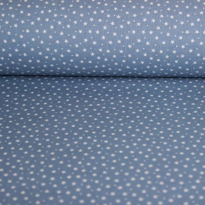 Poplin bumbac – Little stars on blue