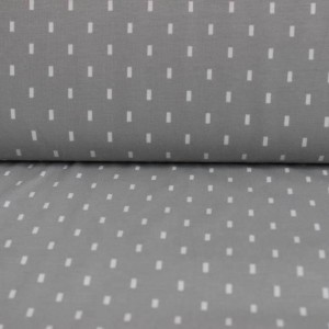 Material textil bumbac – Jerse Small lines on gray