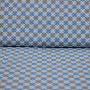 Bumbac percale – Colored shapes on blue