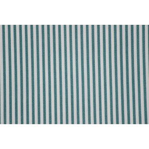 Poplin bumbac – Blue stripes on white