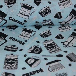Poplin bumbac – Coffee cups