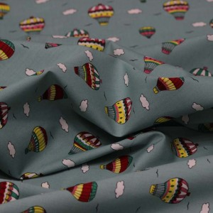 Poplin Bumbac – Ballons on mint