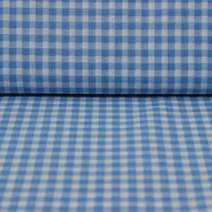 Bumbac percale – Blue little squares