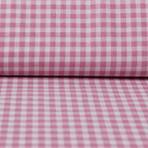 Material textil Bumbac percale – Pink little squares