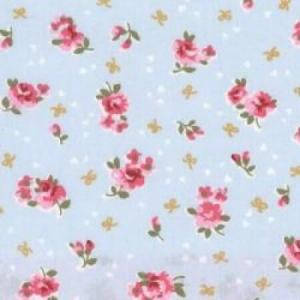 Poplin bumbac - Chic Roses on Sky